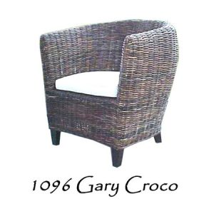 Gary Croco Rattan Chair