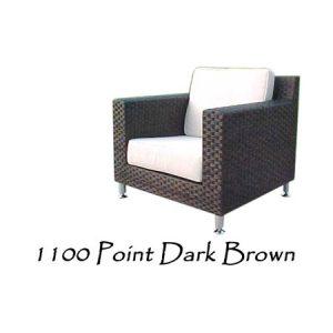 Point Dark Brown Rattan Chair