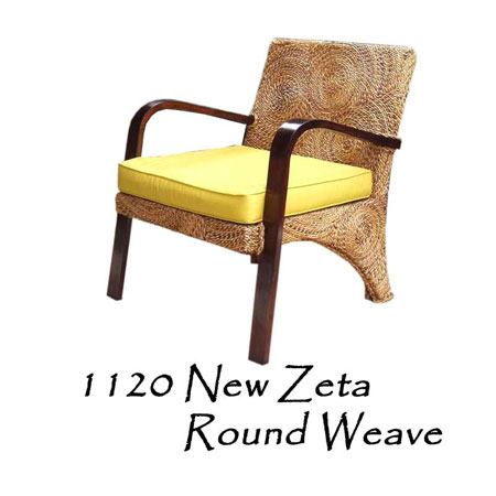 New Zeta Round Weave Chair