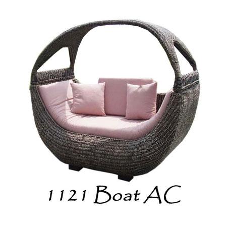 Boat Rattan Arm Chair