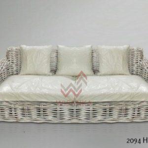 Herrera Rattan Sofa White