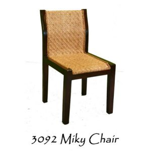 Milky Rattan Dining Chair