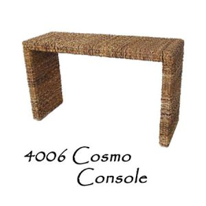 Cosmo Console Wicker Table