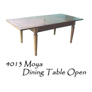 Moya Wooden Dining Table Open