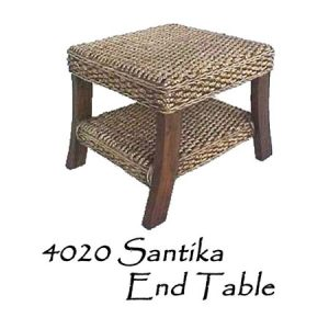Santika Wicker End Table