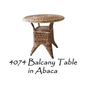 Balcany Wicker Table in Abaca