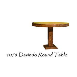 Davindo Round Wooden Table