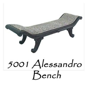 Alessandro Wicker Bench
