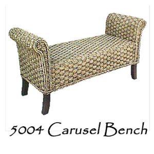 Carusel Rattan Bench
