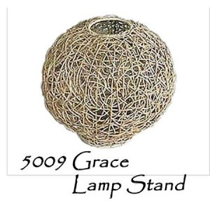Grace Rattan Lamp Stand