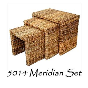 Meridian Wicker Stool Set