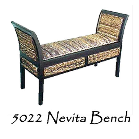 Nevita Wicker Bench
