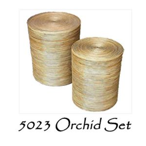 Orchid Rattan Basket Set