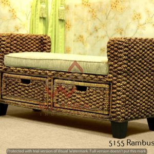 Rambusa Wicker Bench