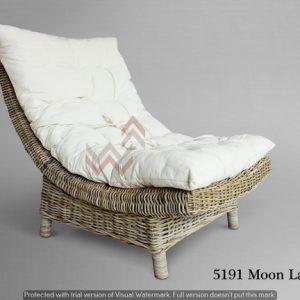 Moon Rattan Lazy Chair