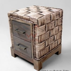 Luna Rattan Bedside Table