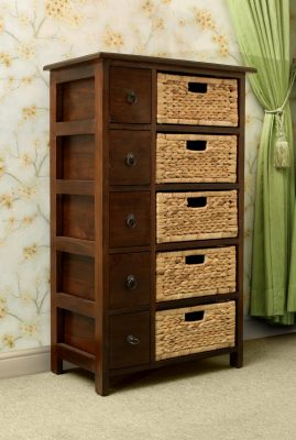 Yuan Cabinet with wicker drawers