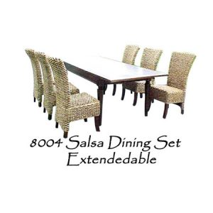 Salsa Wicker Dining Set Extendedable