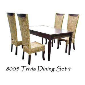 Trivia Wicker Dining Set 4