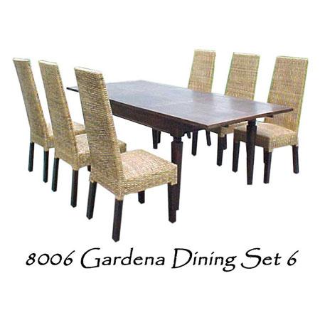 Gardena Wicker Dining Set 6