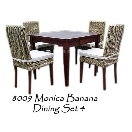 Monica Banana Woven Dining Set 4