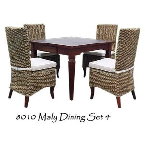 Maly Wicker Dining Set 4