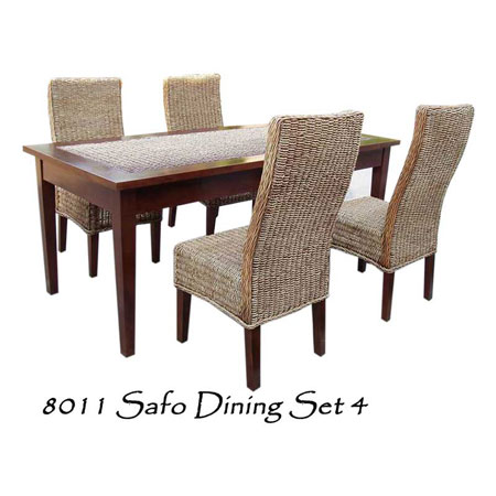 Safo Rattan Dining Set 4