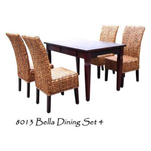 Bella Wicker Dining Set 4