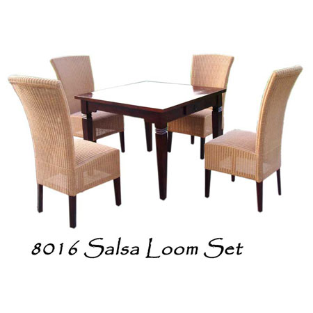 Salsa Loom Rattan Dining Set 4