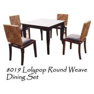 Lolypop Round Weave Dining Set