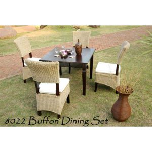 Buffon Rattan Dining Set