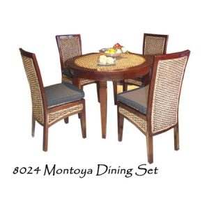 Montoya Wicker Dining Set