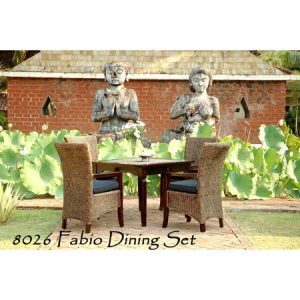 Fabio Wicker Dining Set