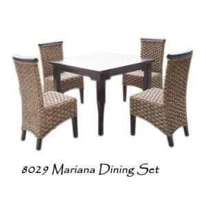 Mariana Wicker Dining Set 4