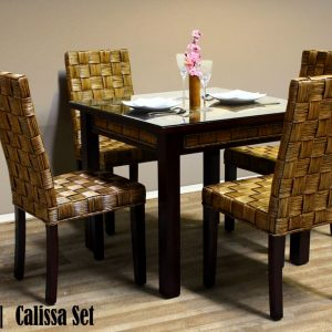 Calissa Rattan Dining Set