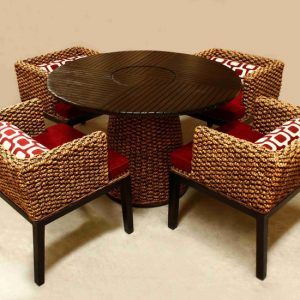 Surya Wicker Dining Set