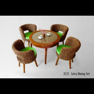 Leiva Wicker Dining Set