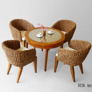 Arya Wicker Dining Set