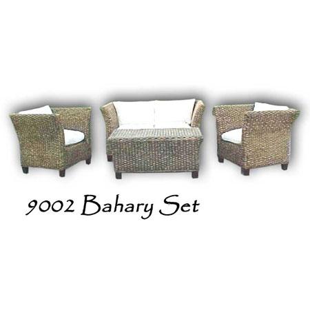Bahary Wicker Living Set