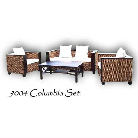 Columbia Wicker Living Set