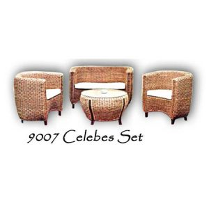 Celebes Wicker Living Set