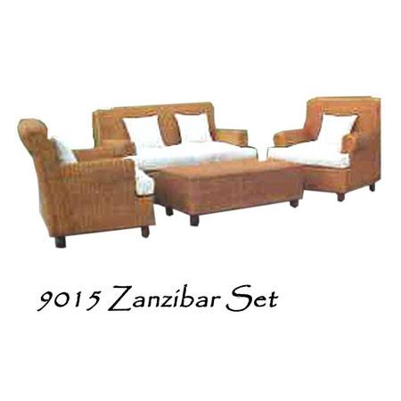 Zanzibar Wicker Living Set