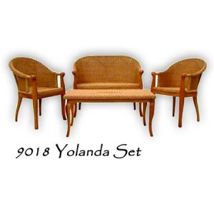 Yolanda Rattan Living Set