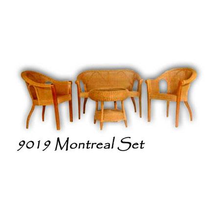 Montreal Rattan Living Set