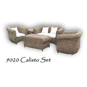 Calisto Wicker Living Set