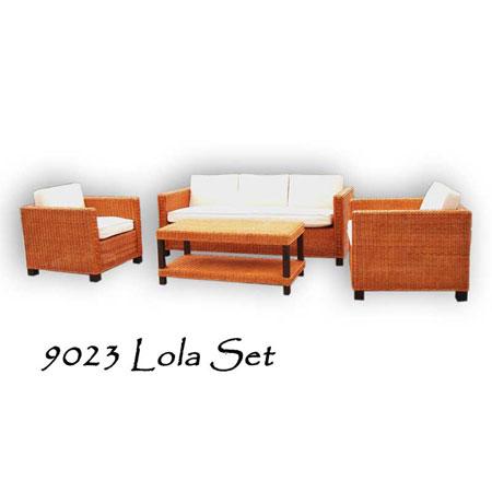 Lola Rattan Living Set