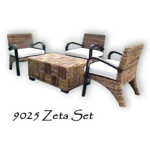 Zeta Wicker Living Set