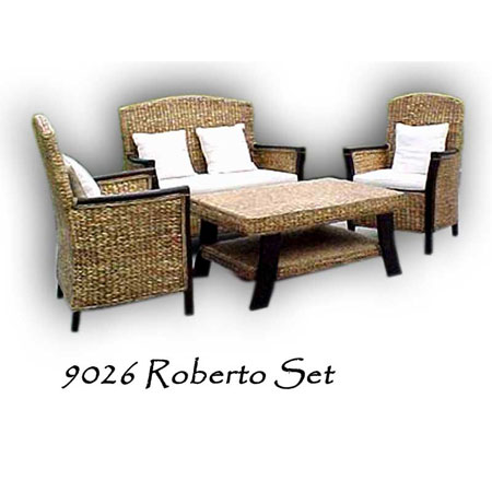 Roberto Wicker Living Set