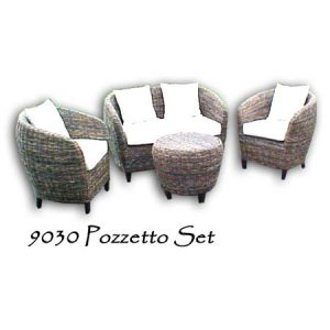 Pozzetto Wicker Living Set