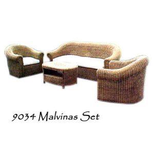 Malvinas Wicker Living Set